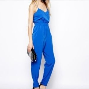BNWT ASOS Strappy Blue Jumpsuit